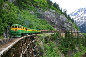 White Pass Yukon train alaska