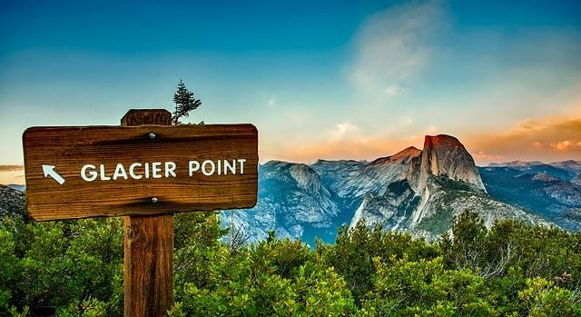 glacier-point-sign-yosemite National Park