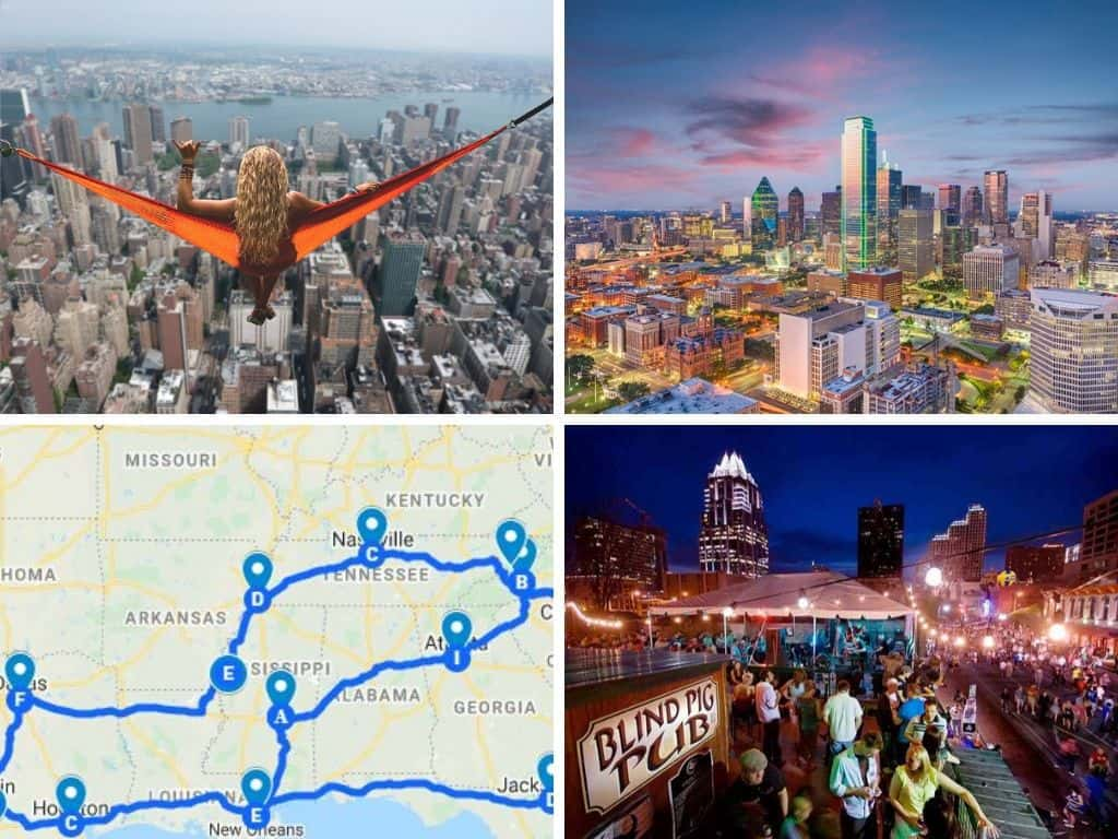 New York to Dallas Texas Road Trip