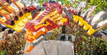 Fictional dragon character made of Legos