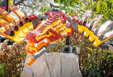 Fictional dragon character made of Legos