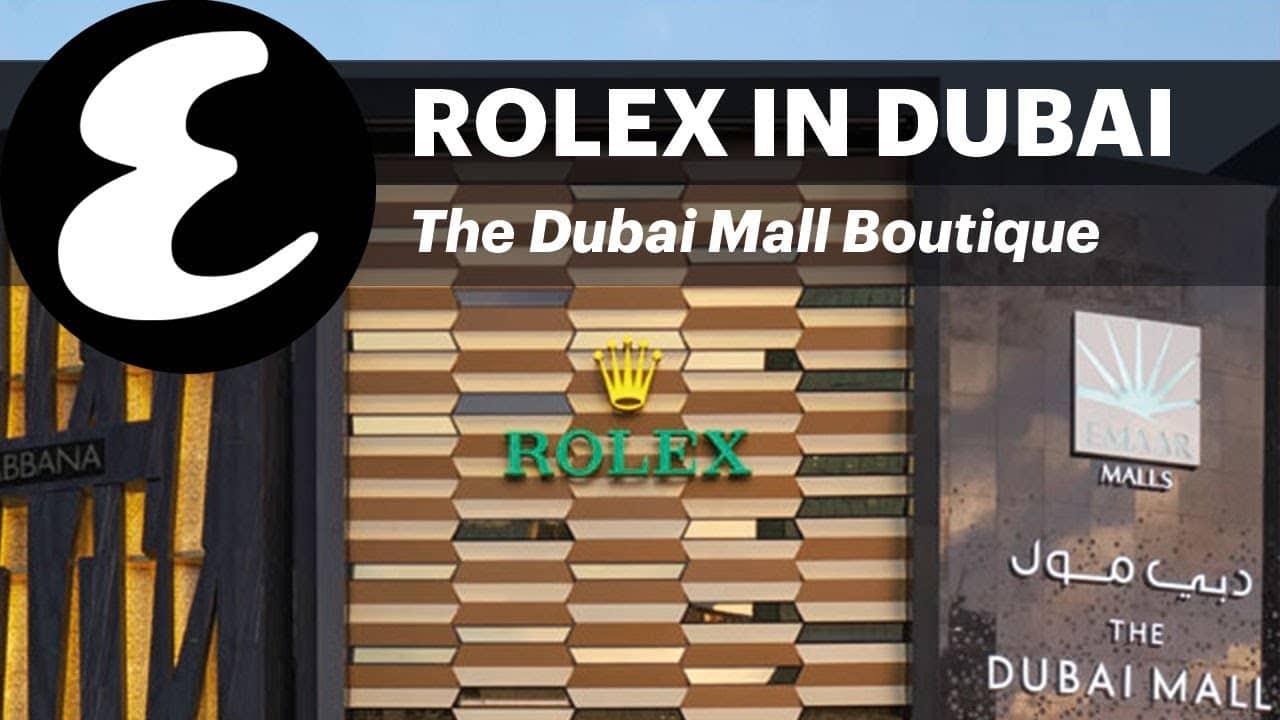 Rolex Store in Dubai Mall