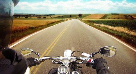 Motorcycling in Pakistan.
