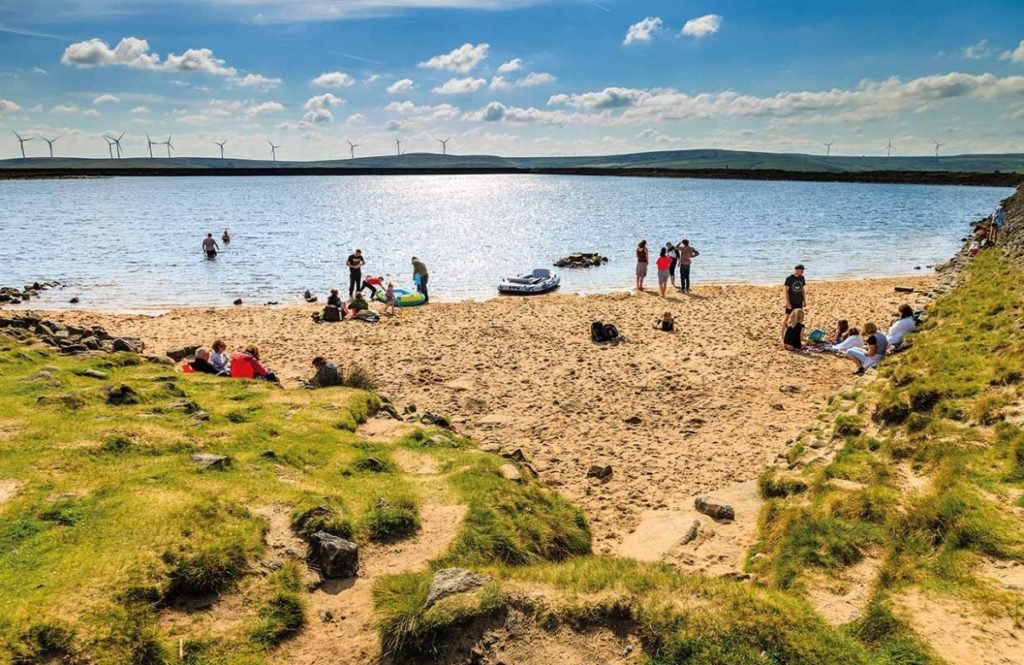 The gaddings dam highest beach in UK