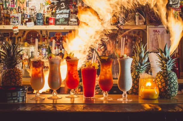 Hula Bar Manchester. FLAMING COCKTAILS .Source: Manchester evening news.